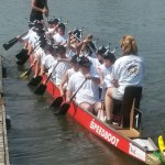 Start des Drachenbootes